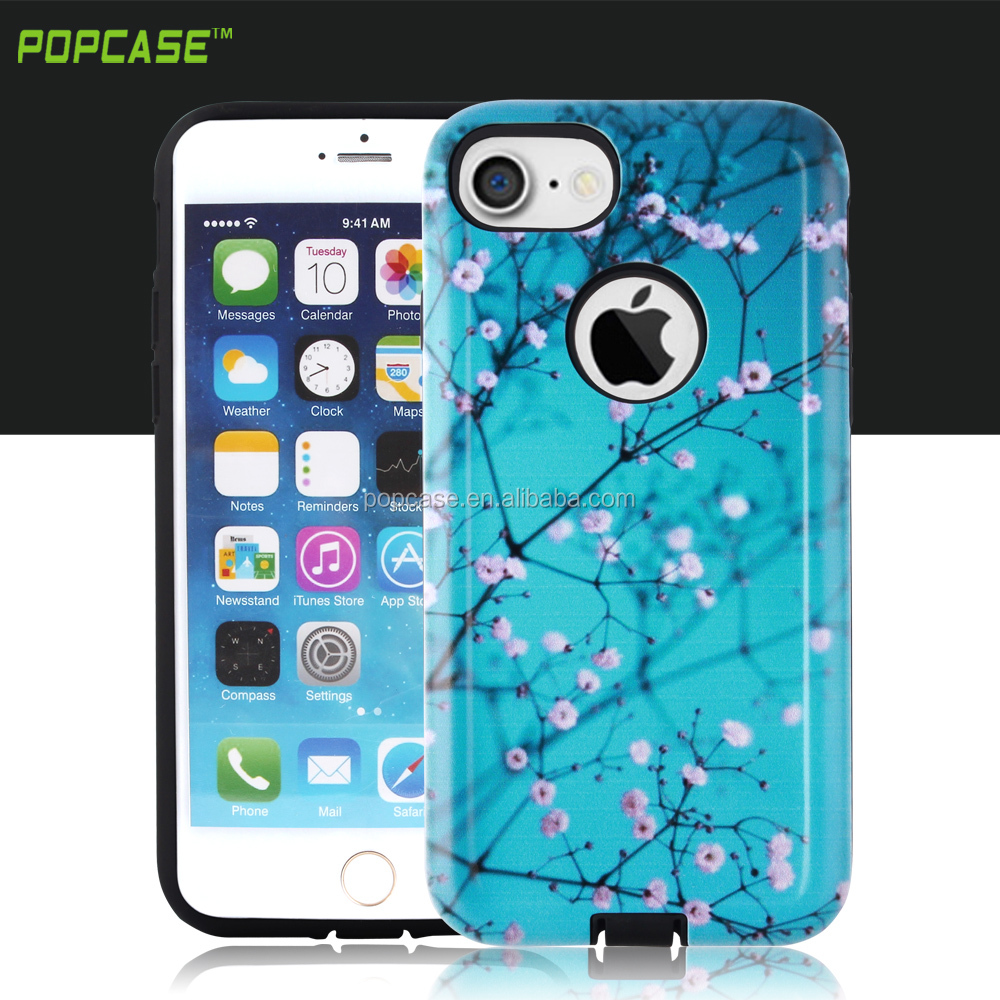 Full Size sublimation thin Gummy combo mobile phone case for iphone 7 case