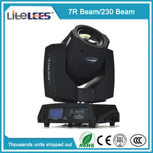 Guangzhou stage light 230w 7r sharpy moving head lights mini dj disco light