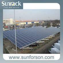 solar mounting system of 30kw solar carport system