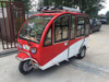 High quality 1000W 3 wheel enclosed scooter tuk tuk taxi with reverse vedieo for sale