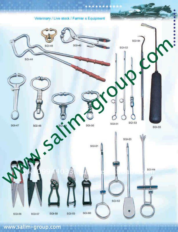 Veterinary Instruments and Equipment, All kind of VETERINARY INSTRUMENTS