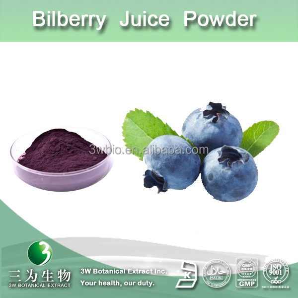Manufacturer supply anthocyanin europe bilberry extract powder