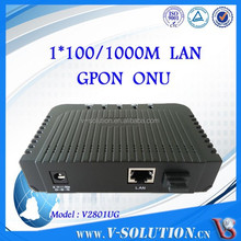FTTH fiber GEPON ONU with GE port, GPON ONT,support NAT and PPPOE