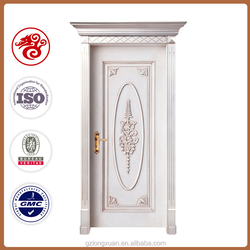 contempoary luxury new design solid white wooden door for sale made in China