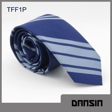 High Quality Blue striped Polyester Necktie