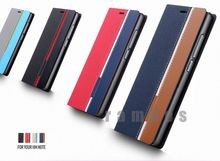 PU Leather Wallet Stand Case Mobile Phone Covers for Blackberry Q5