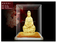 Hot Sale New Product 24K Gold Plated gift Songzi Guan Yin Buddha statue in display box WS336-DF700
