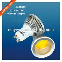 SYW 2013 CE RoHS 2013 New Ceiling GU10 COB LED Spotlight 5W warm white cool white