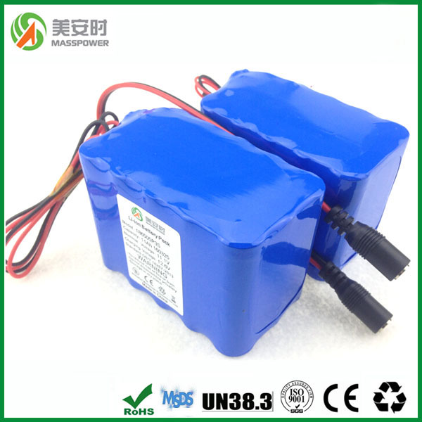 Top sale 18650 Rechargeable lithium battery 12V 15ah pack for robotic vacuum cleaner