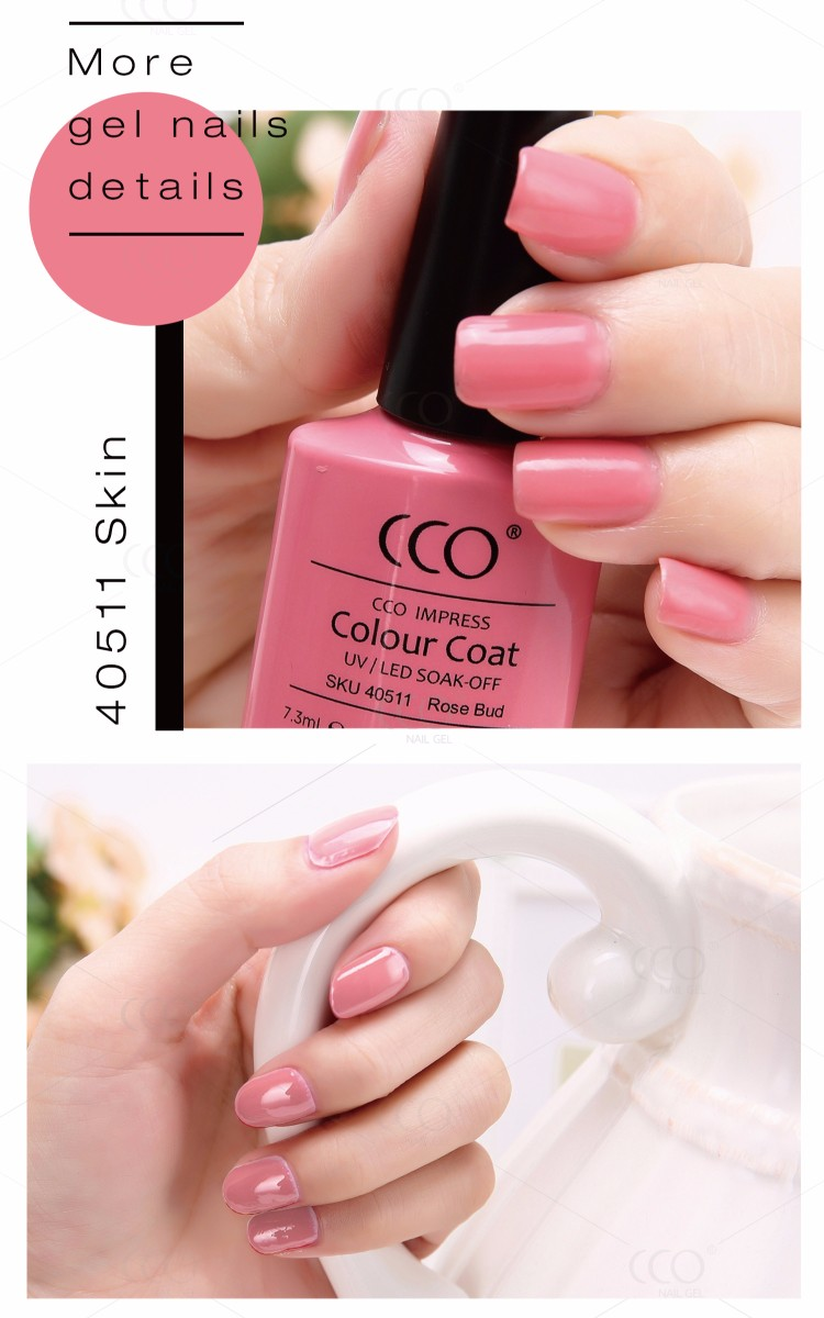 CCO Hot Sale Wholesale Natural Material 7.3ml Easy Soak Off UV Gel Nail Polish