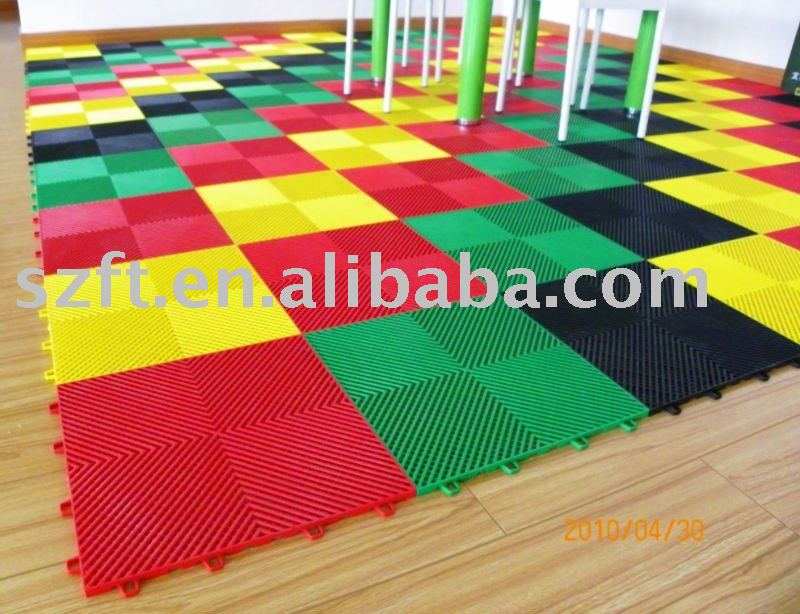 Interlocking Plastic Garage tile
