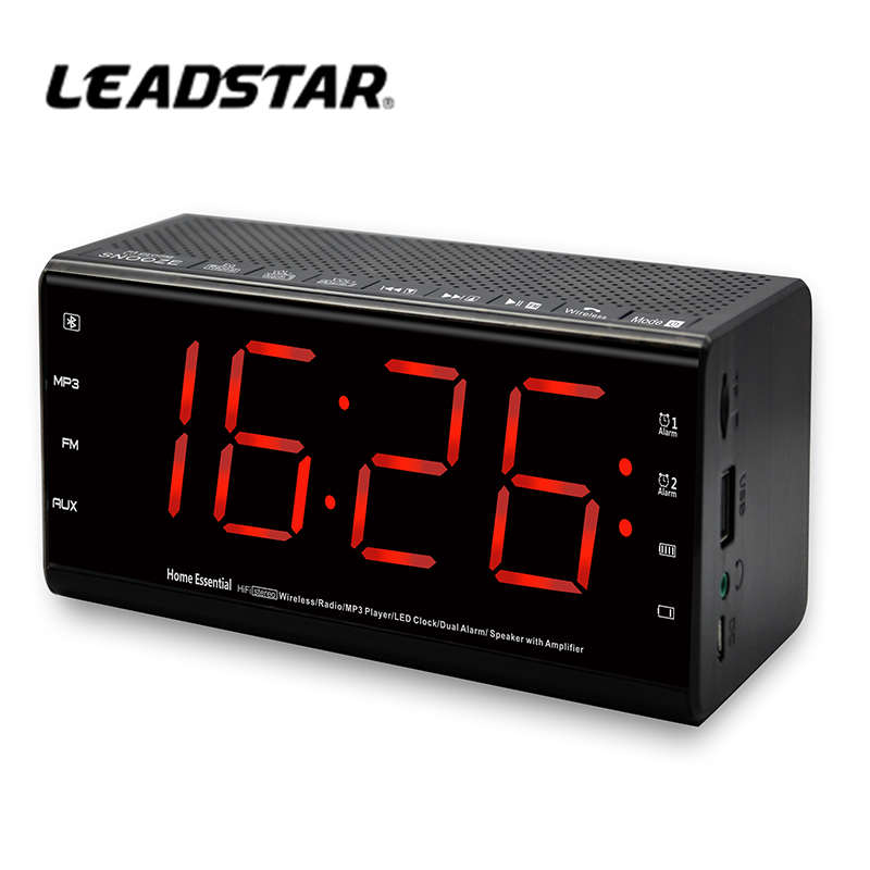Digital bedroom kids alarm clock with big LED screen