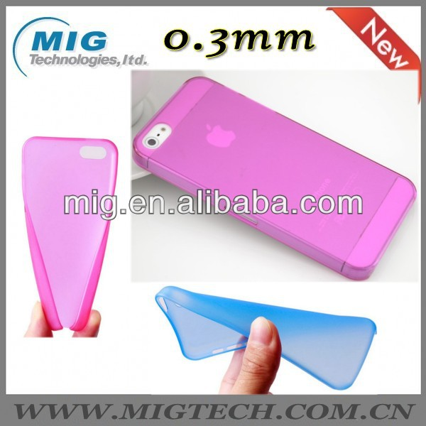 0.3mm or 0.5mm Ultrathin phone case for iphone 5 5S, for iphone 5 case PC+TPU case 10 colors optional