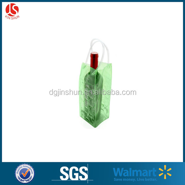 PVC Colored Printed Wine Ice Bag for Beer With Logo Printing