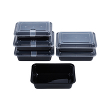 48oz 1420ml Disposable small plastic food container lunch boxes with air vent lock lid