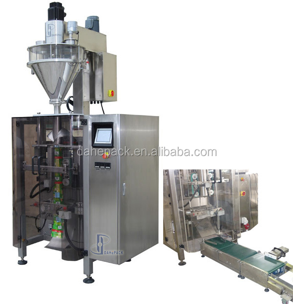 Automatic Vertical Form Fill ,Seal and Packaging Machine With Inline checkWeigher For Dry Powder