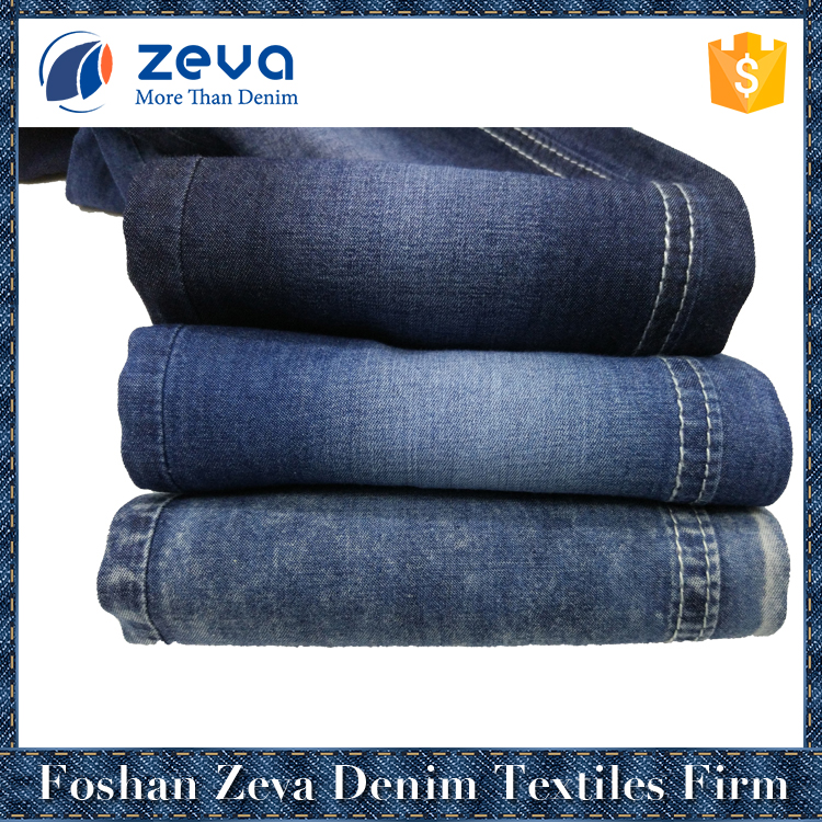 High quality and popular shrink-resistant new colored denim fabric stocklot for jeans