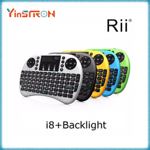 Genuine Rii mini i8+ 2.4G Wireless Backlight Keyboard TouchPad Mouse Backlit Gaming Keyboard For Android tv box