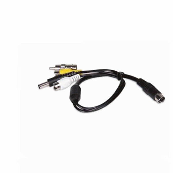 RCA and power to 6 PIN MINI DIN converter cable