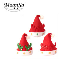 Christmas decor fashion winter christmas santa hats for children adult moonso A4616