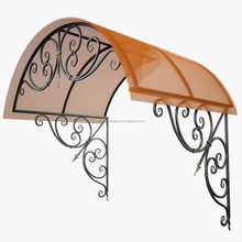 outdoor wrought iron awning