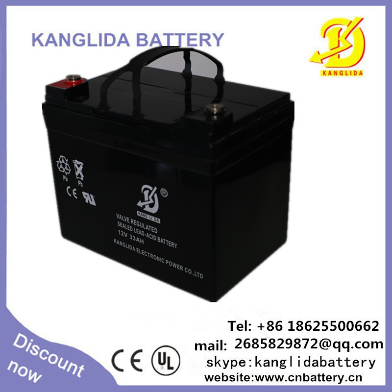 12V 33ah Deep Cycle Battery for UPS Solar Wind Energy System