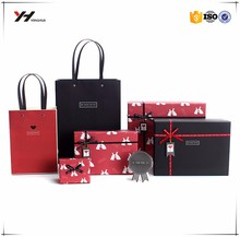 2017 fancy luxury printed recycled shopping carry bag,paper bag printing, carrier bag with handle