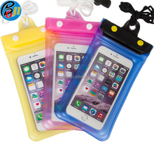 IPX8 pvc waterproof mobile cell phone dry pouch for swimming