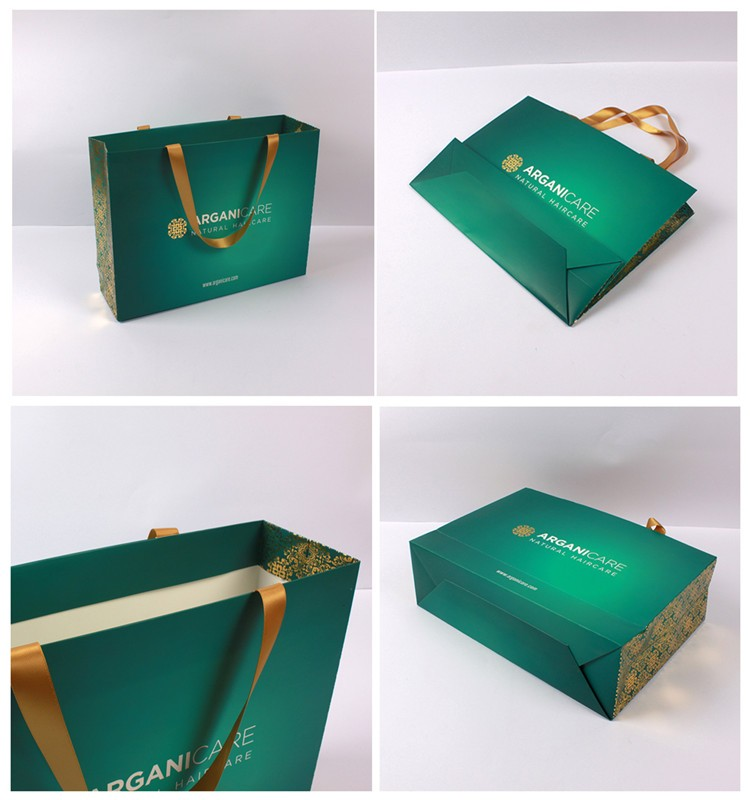 2017 New Luxury Shopping Paper Bag for Cloth