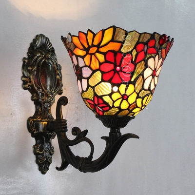 Bedroom/Living room 220v modern tiffany wall lamp tainless steel glass wall lamp