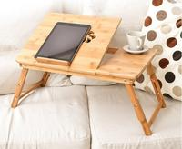 ajustable folding laptop table portable wooden bamboo laptop bed table