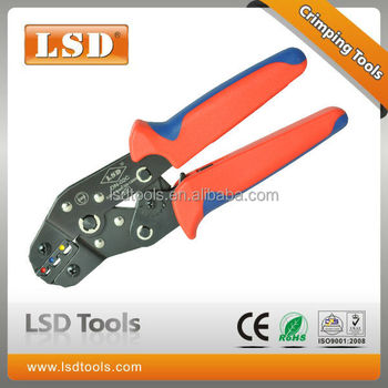 DN-02C Ratchet hand crimping plier 0.25-2.5mm2 insulated cable connectors&terminals crimping tool