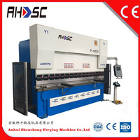 mb8series 125Tons hydraulic press brake 10mm thickness 2500mm length plate iron bending machines with advanced technology