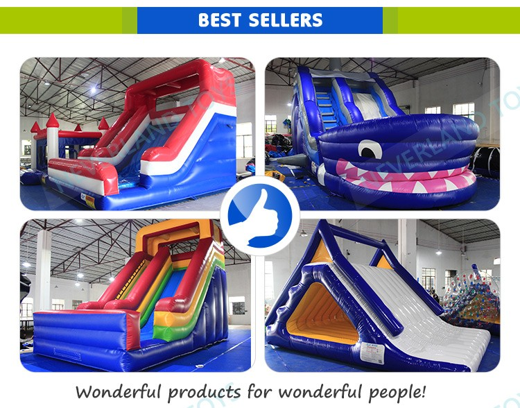 Outdoor Dry Lake Used Water Park Giant Floating Heavy Duty Pool Slide Inflatable Water Slides For Kids For Sale