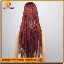 Hand Made Braided Lace Synthetic Wigs Cheap Braided Lace Front Wigs