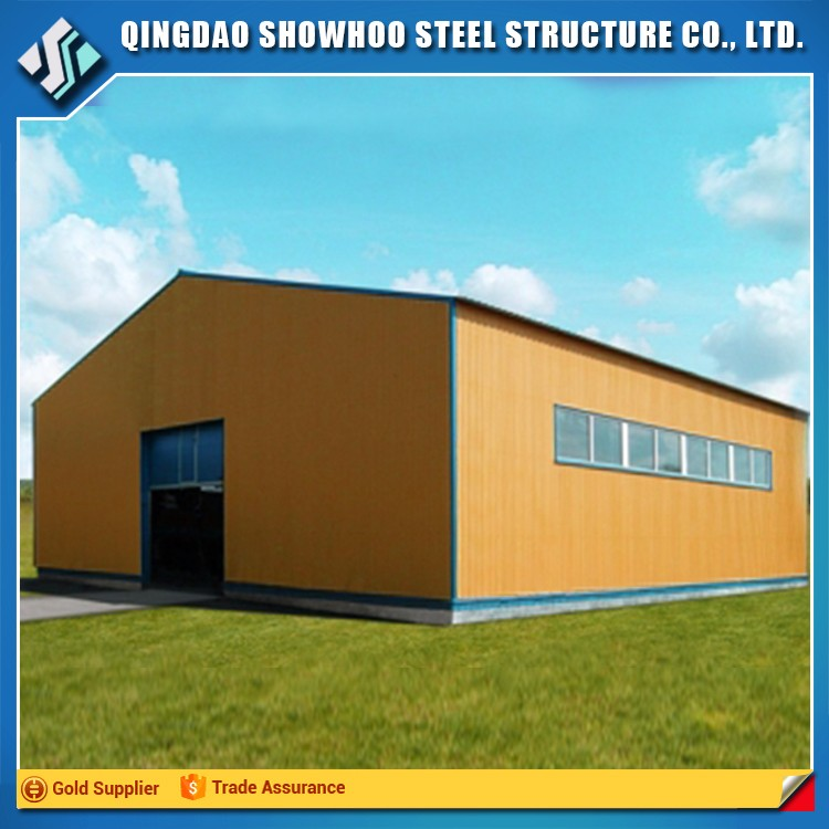 cheap light frame building structure steel hangar project for sale