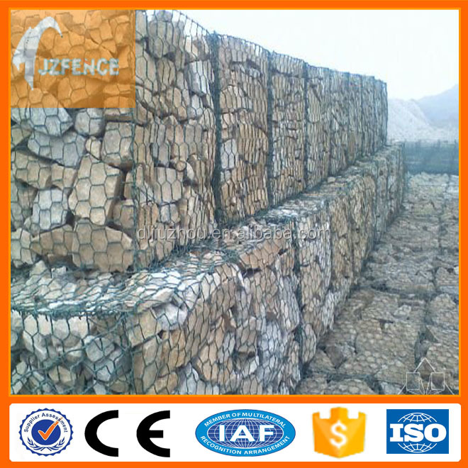 Hot dipped galvanized welded gabion box wire mesh factory in stock