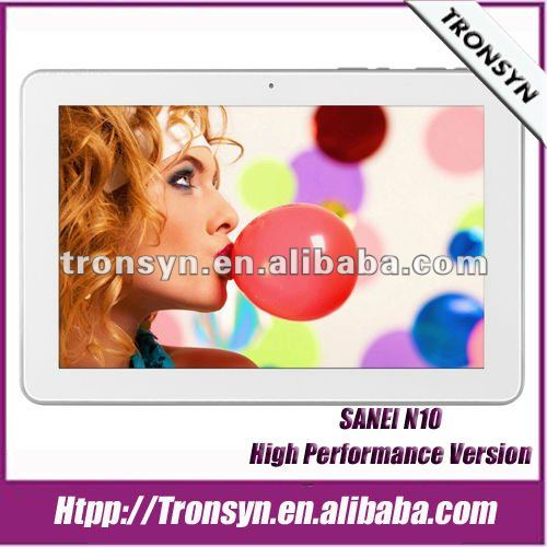 "Sanei N10 10.1"" IPS Screen 1280*800 1G/16G With Bluetooth/Dual Camera/WiFi/HDMI Android 4.0 tablet pc"