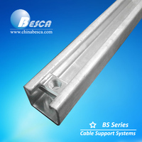 Hot dip Galvanised Steel Strut Channel with Spring nut(ISO9001 authorized factory)