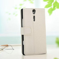 High quality fashion wallet leather case for sony xperia s lt26i