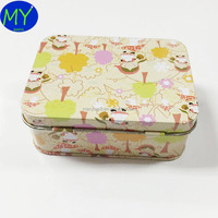 Hot selling high quality rectangular mini mints tin hinged box for hand cream supplier