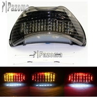 Pazoma LED Stop Brake License Plate Motorcycle Taillight Turn Signals For Honda CBR 600 F4 F4i