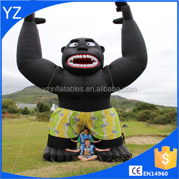 New design inflatable gorilla for outdoor advertising giant gorilla cartoon model
