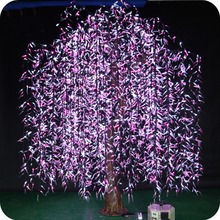 Simulation plant artificial indoor led lighted decoration weeping willow tree