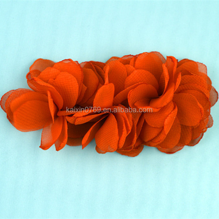 Handmade fabric flowers wholesale/shoes accessories for women shoe