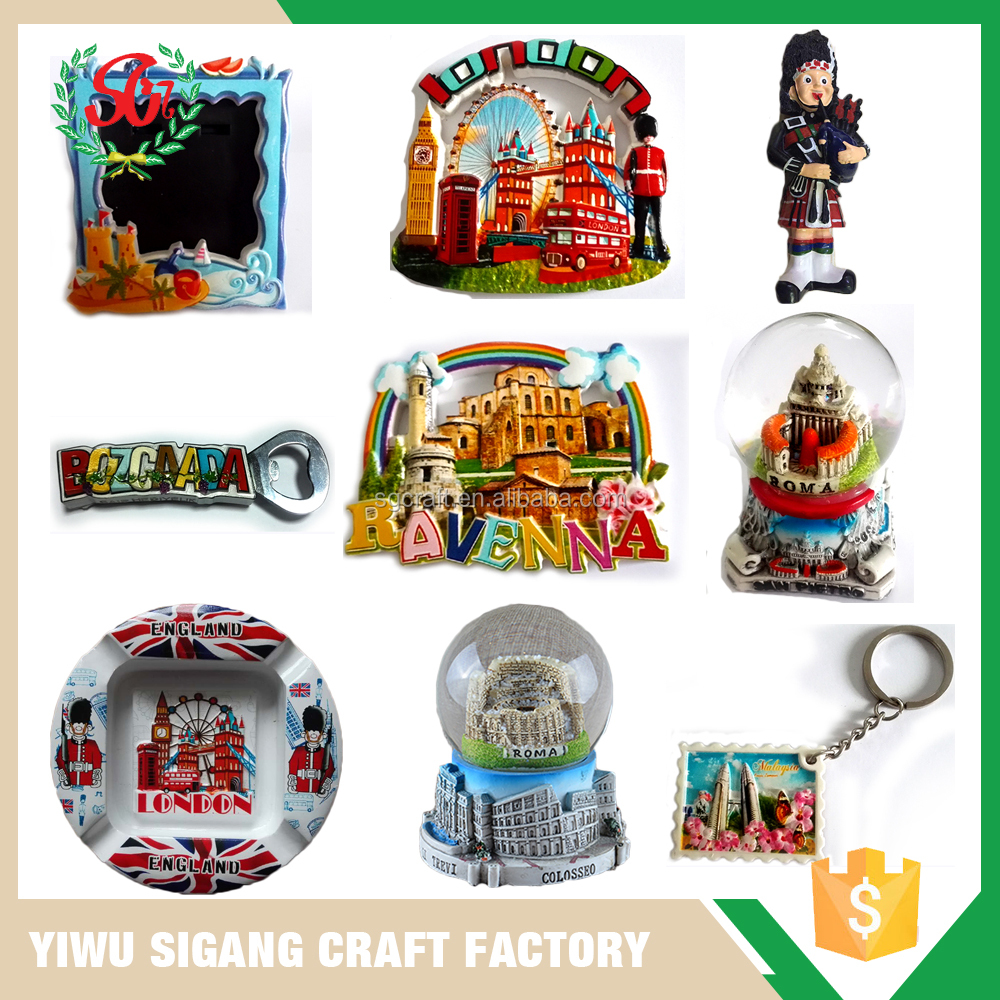 High Quality Custom Snow Globe Plate Fridge Magnet Resin Souvenirs