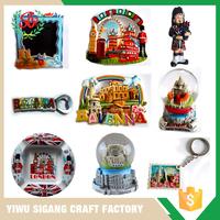 High Quality Custom Snow Globe Plate Fridge Magnet Resin Souvenirs