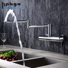 Brass Folding Pull Out Water Faucet Tap and Mixer,Wall Mounted Faucet Kithchen