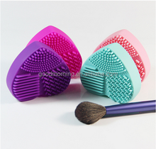 high quality heart shape silicone makeup brush cleaner