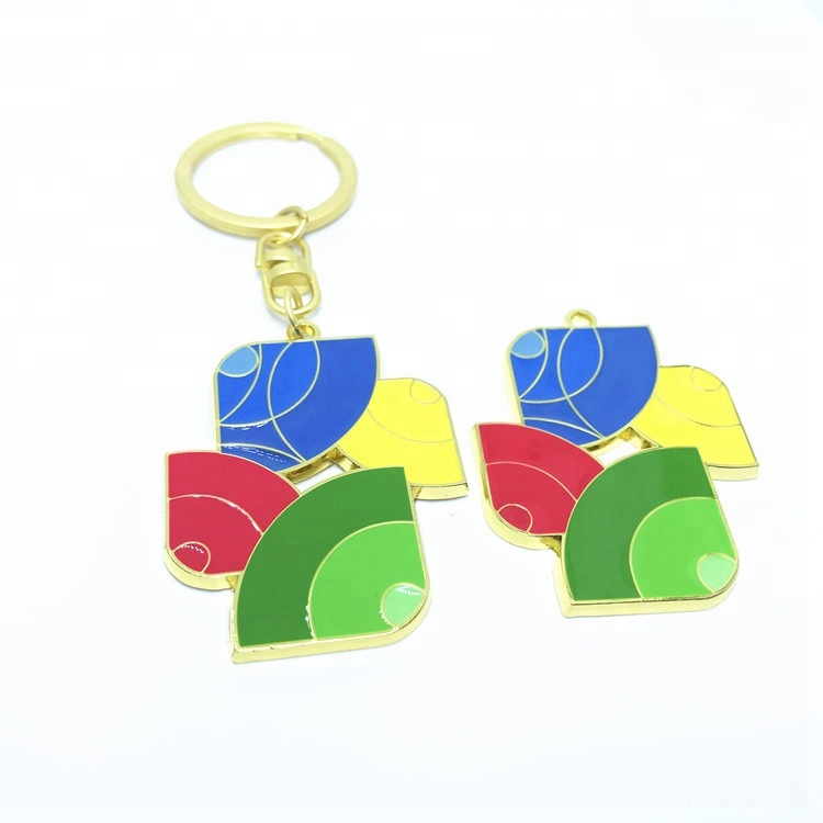 Custom soft enamel logo key chain small quantities